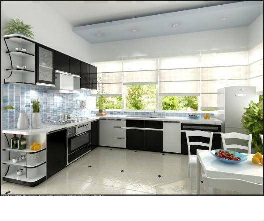 Tủ bếp đẹp bền nhờ có hệ thống phụ kiện tủ bếp thông minh