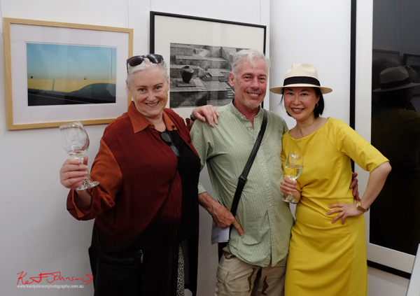 Robina Sam and Vivienne at Badger & Fox Gallery for the opening of Click!