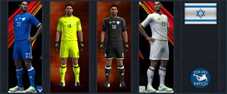 Israel National Football Team kit 2016-17 Pes 2013
