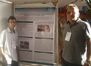 Técnico em mineração e geólogo apresentaram trabalho em seminário na UFCG