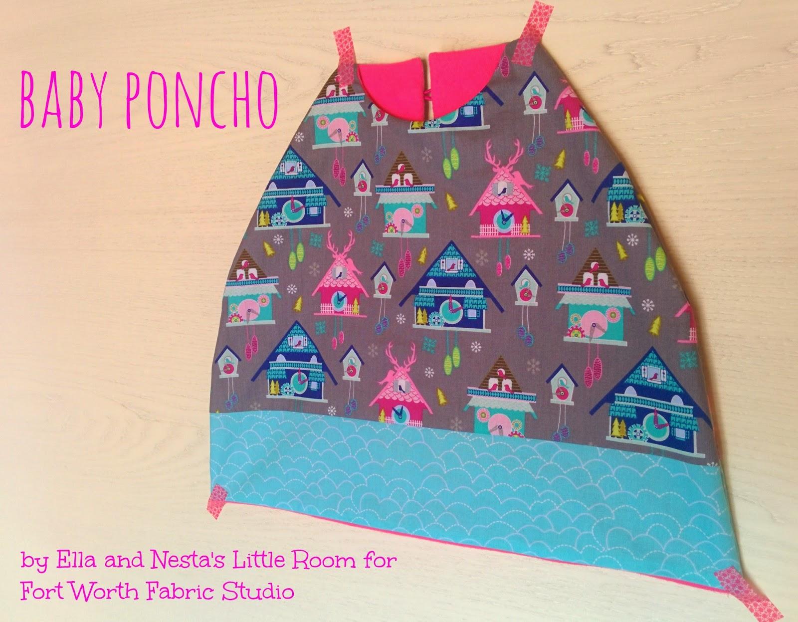 Fort Worth Fabric Studio: Baby Poncho Tutorial