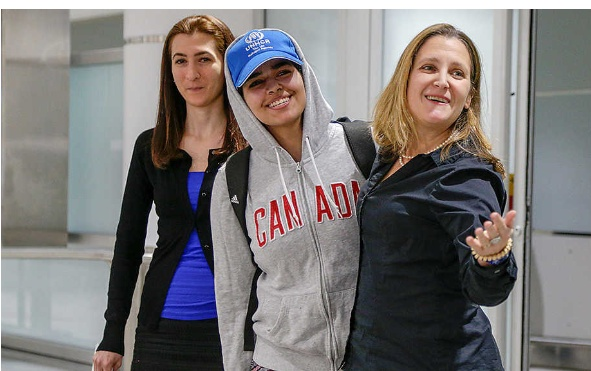Saudi refugee reaches her new home in Canada