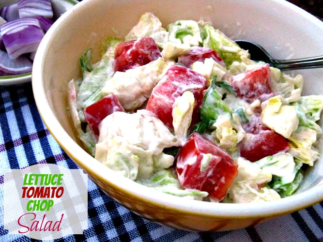 Cooking with K: Mother's Lettuce Tomato Chop Salad {Granny ...