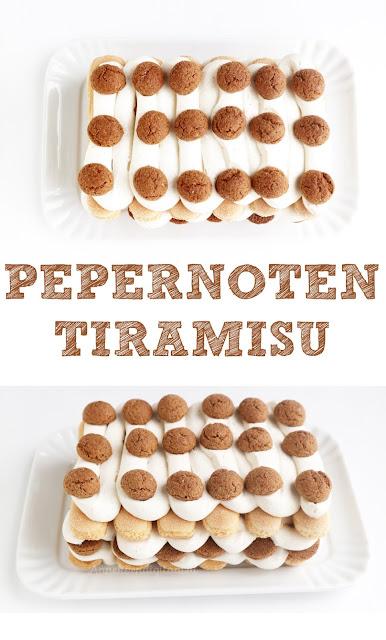 snelle Pepernoten tiramisu, makkelijke Pepernoten tiramisu, tiramisu zonder eieren, recept tiramisu, tiramisu met pepernoten, pepernoten tiramisu voor sinterklaas