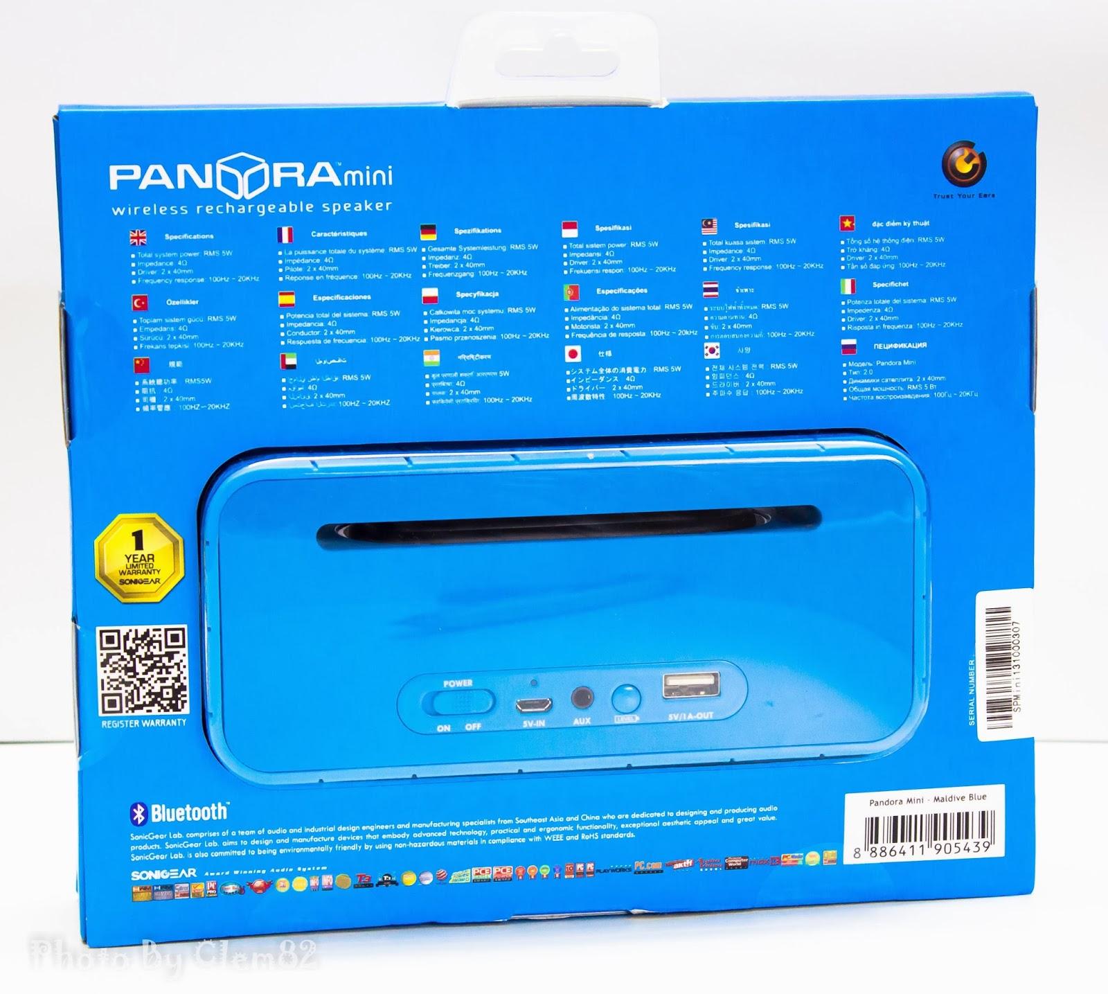 Opening Pandora's Box: SonicGear Pandora Wireless Bluetooth Media Player Series 11