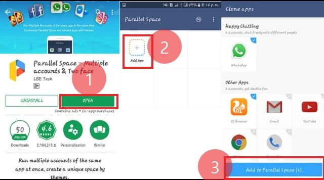एक एंड्राइड फ़ोन में डबल व्हाट्सएप्प कैसे चलाये (how to use two whatsapp in one android phone)