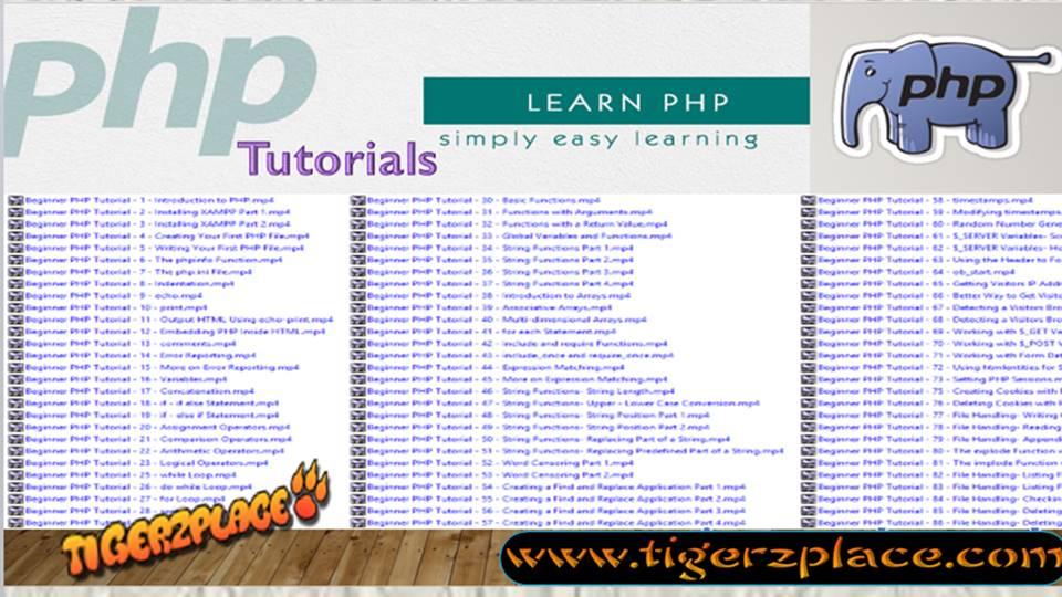 FULL PHP TUTORIAL PDF DOWNLOAD