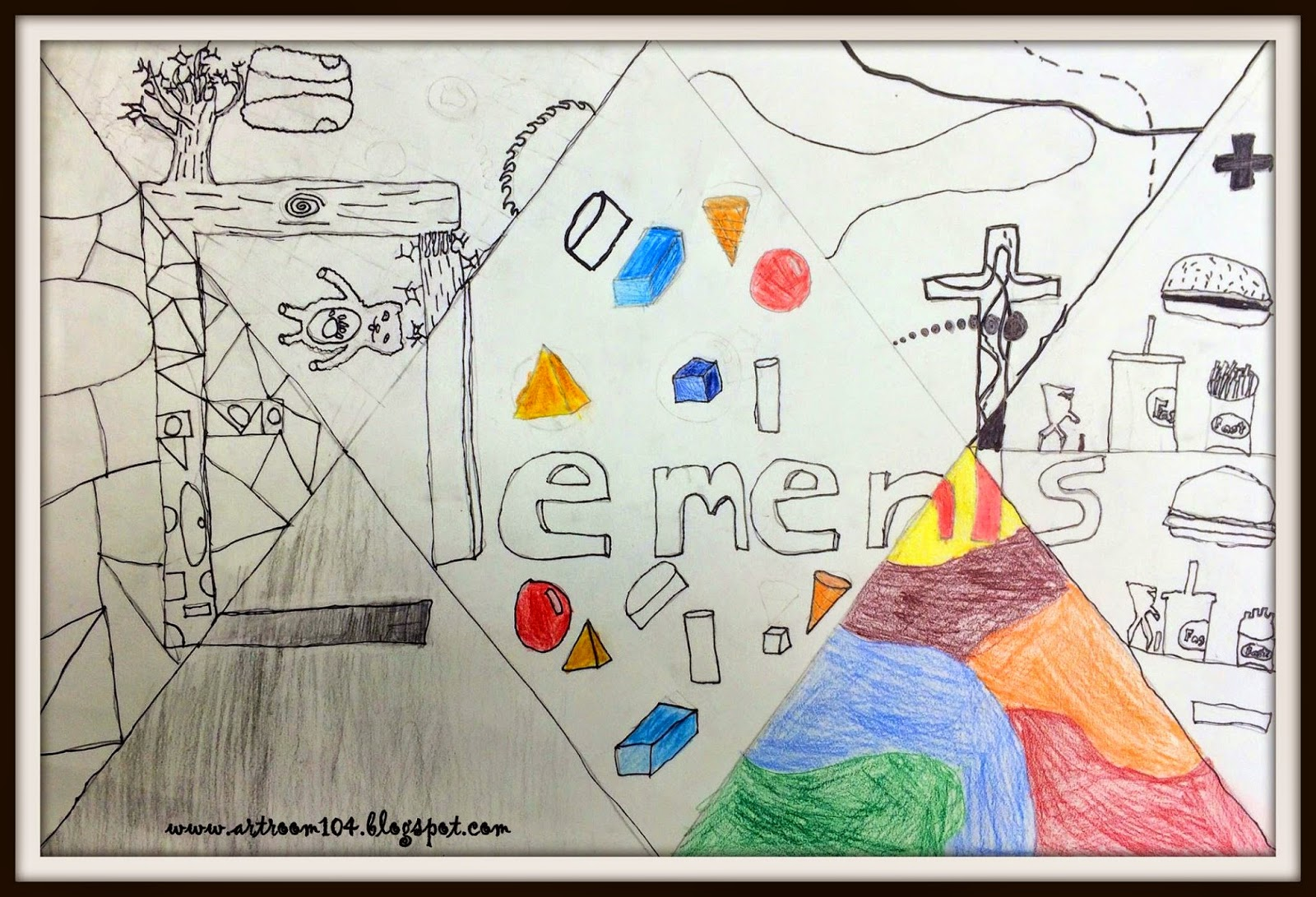 Elements Of Art Drawing : Art room elements of project