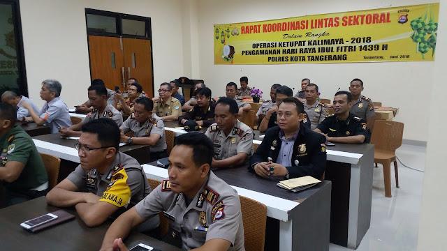 Polresta Tangerang Gelar Rakor Lintas Sektoral dan Vicon Dengan Kapolri