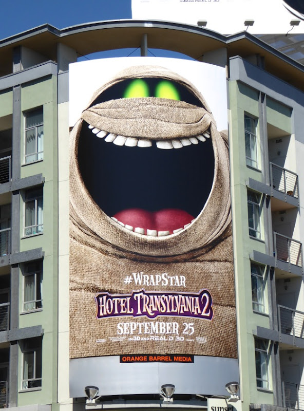 Hotel Transylvania 2 Murray the Mummy billboard