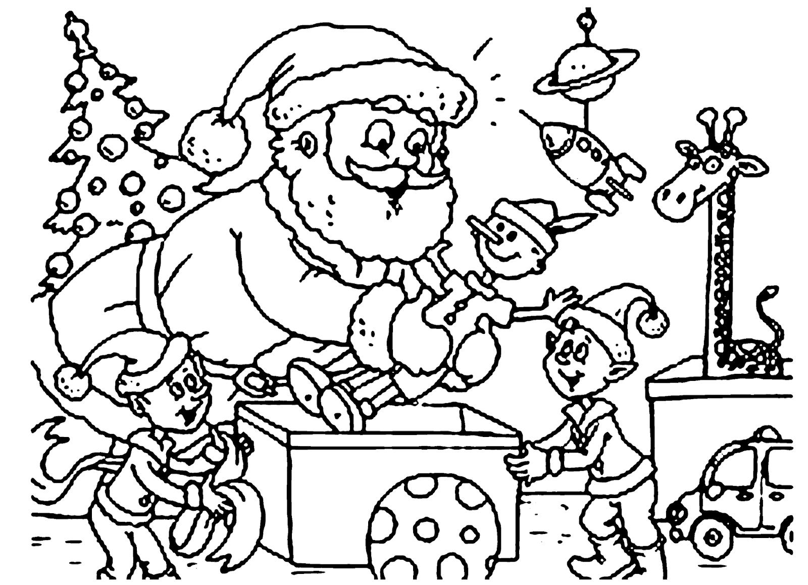 Papai Noel para imprimir e colorir