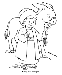 Donkey Coloring Sheet At Farm