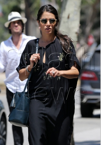 Nikki Reed Wearing awear Sunglasses