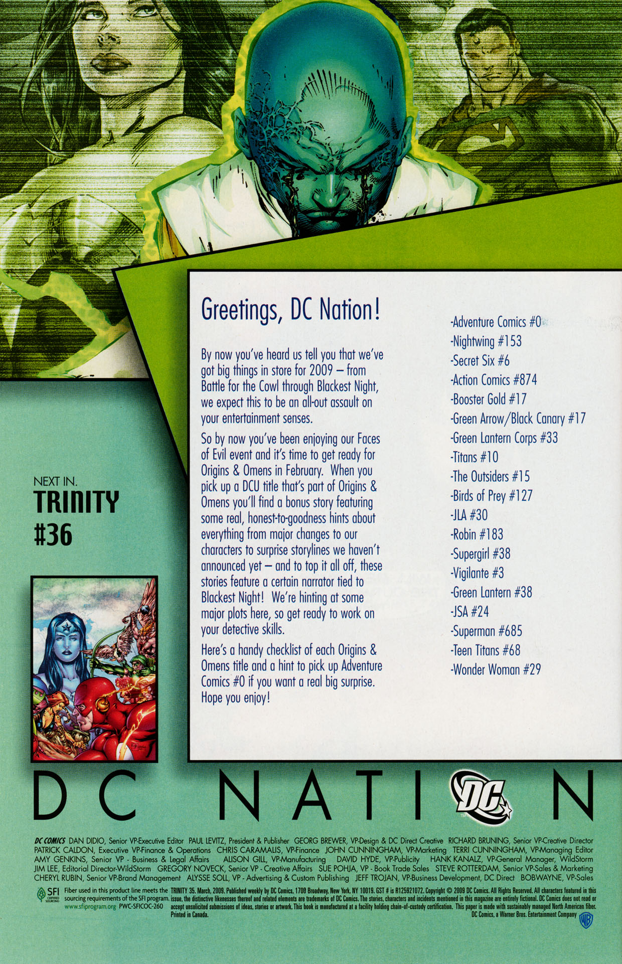 Read online Trinity (2008) comic -  Issue #35 - 33