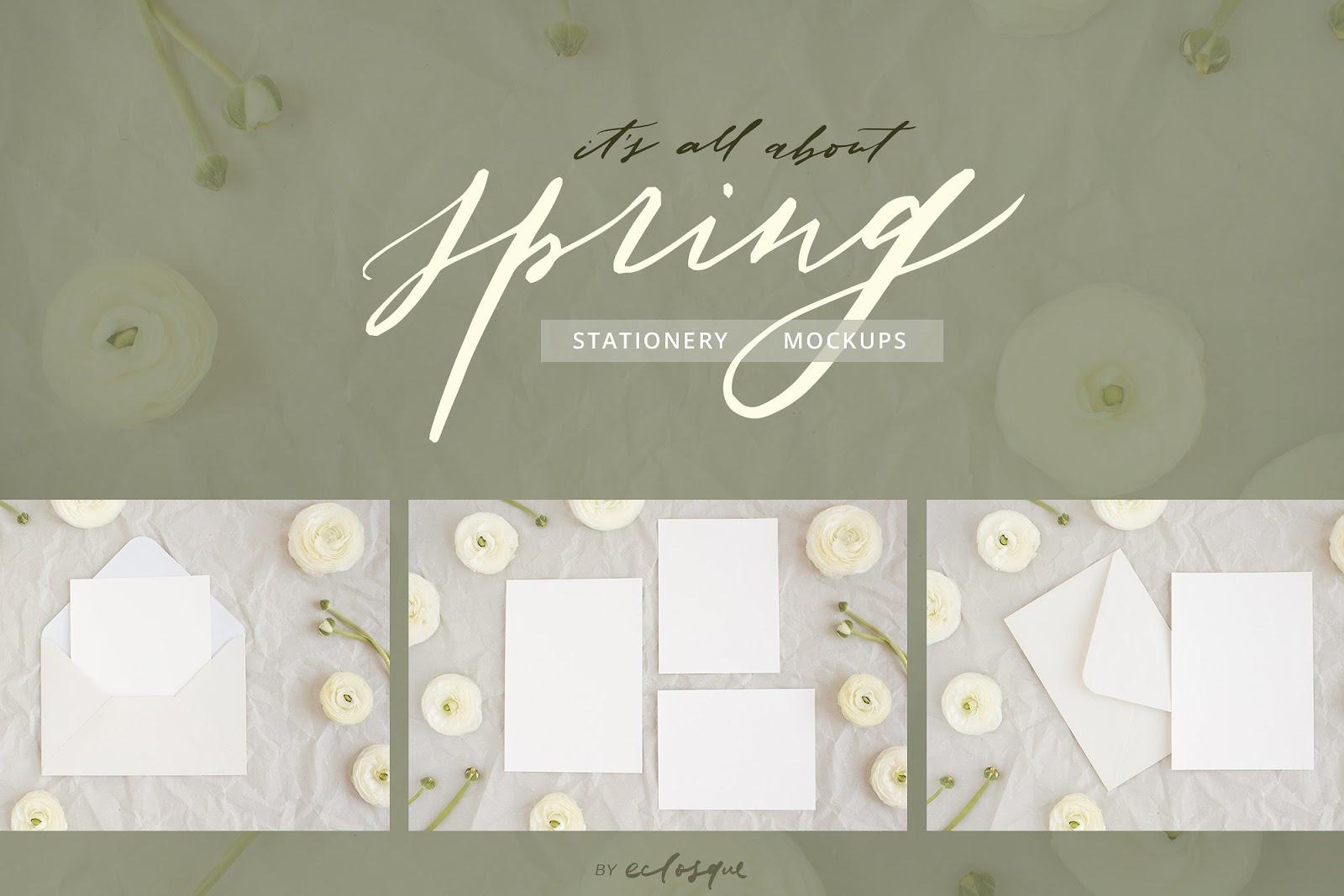 Spring Styled Stationery Mockups