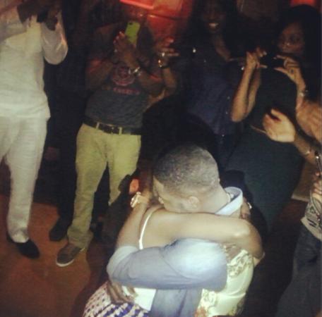 Tiwa Savage and Manager, TeeBliz got engaged