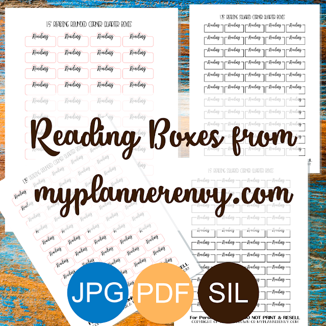 Free Printable Reading Quarter Boxes from myplannerenvy.com