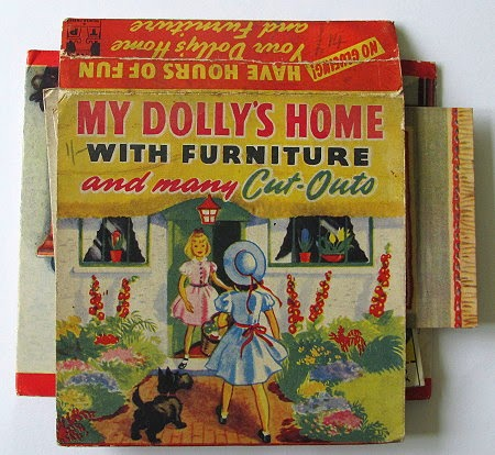 My Dolly's Home with furniture and many cut-outs 1950s book
