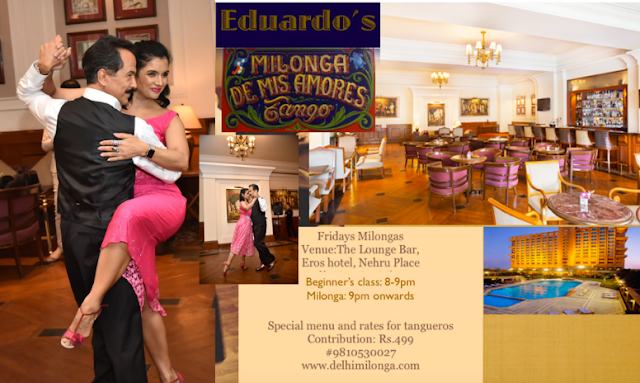 Noida Diary: Delhi Milonga  - Tango Socials by Eduardo and Kiran