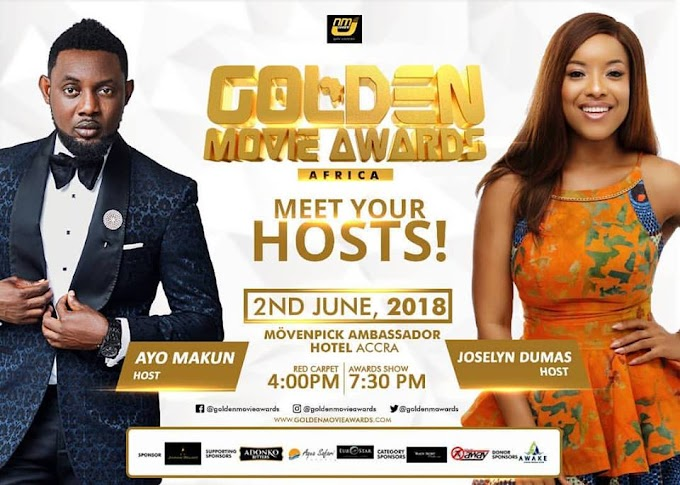 A.Y and Joselyn Dumas to host 2018 Golden Movie Awards Africa