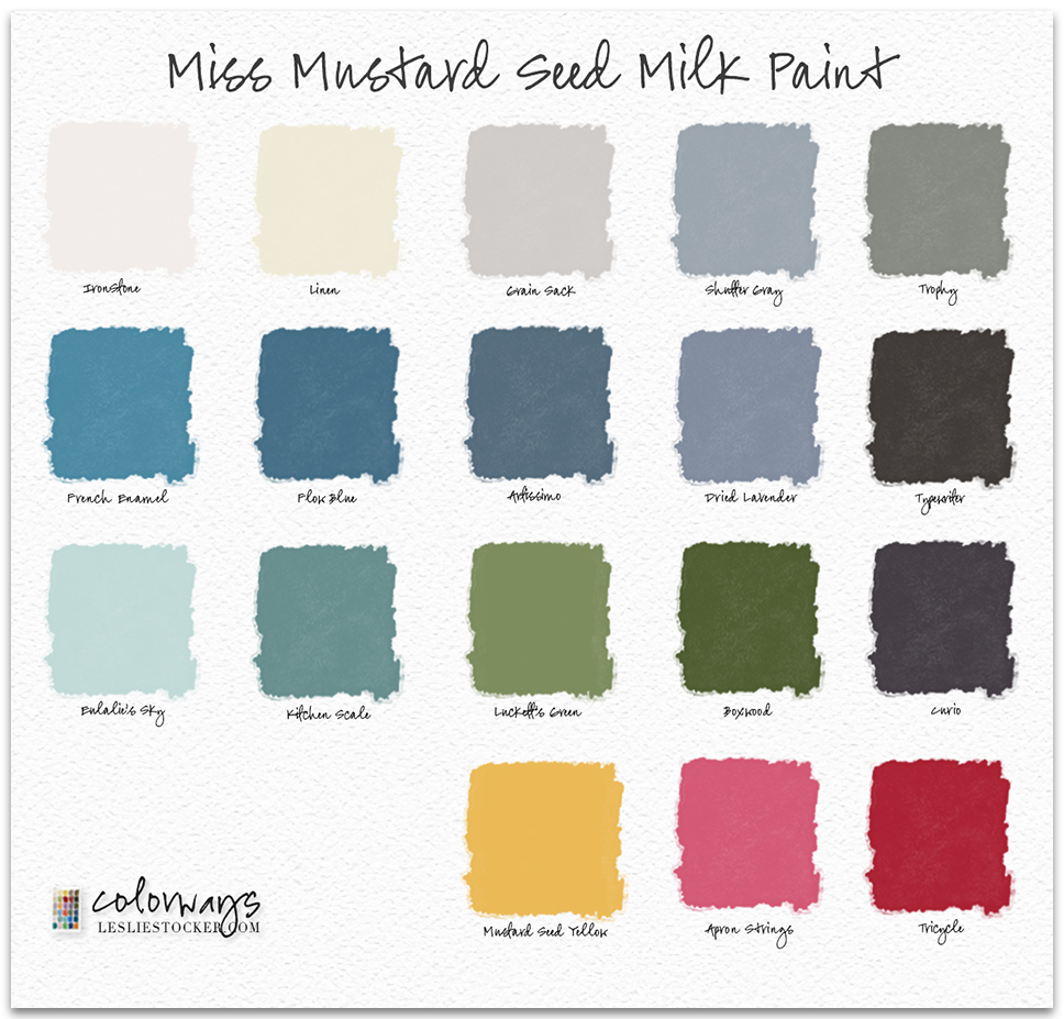 Mustard Color Paint For Kitchen Colorways Miss Mustard Seed Milk Paint Colors