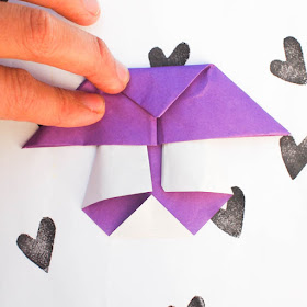 how to fold an origami mushroom- super easy origami kids craft