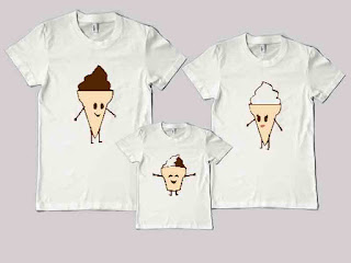 kaos couple family Keluarga Ice Cream