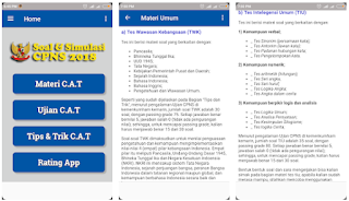 10 Aplikasi Contoh Simulasi Soal Latihan CAT Online CPNS Di Hp Android
