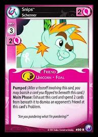 My Little Pony Snips, Schemer Canterlot Nights CCG Card
