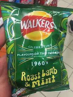 walkers roast lamb and mint crisps 1960s