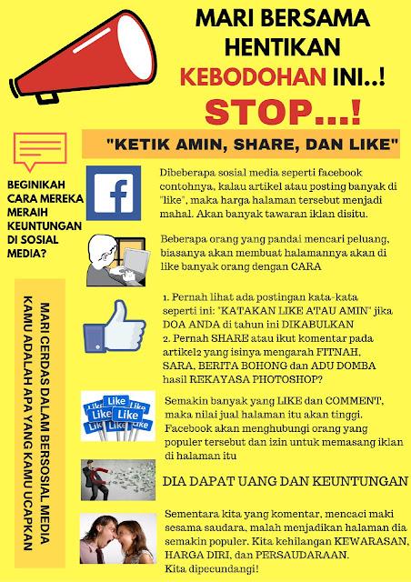 Santri Gus Dur mengajak para Facebookers untuk menghentikan perbuatan bodoh ini