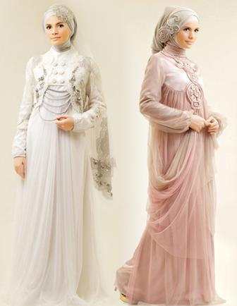 Model Kebaya Gamis Akad Nikah Hijab