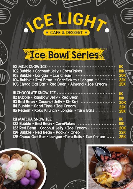 Menu Ice Light Desert Bar Corel Draw cover