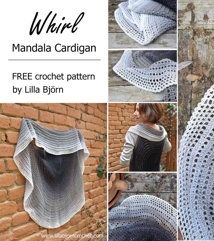 Whirl Mandala Cardigan Free Crochet Pattern Lillabjrns Crochet