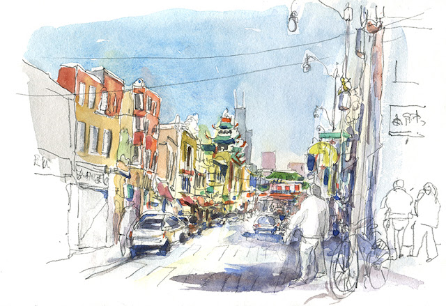 Urban Sketchers Symposium, Chicago 2017, Delphine Priollaud-Stoclet