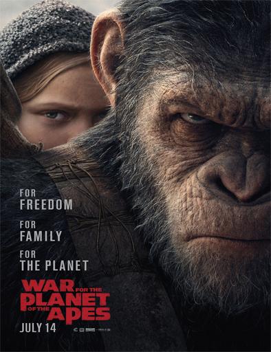 La guerra del Planeta de los Simios (2017) latino