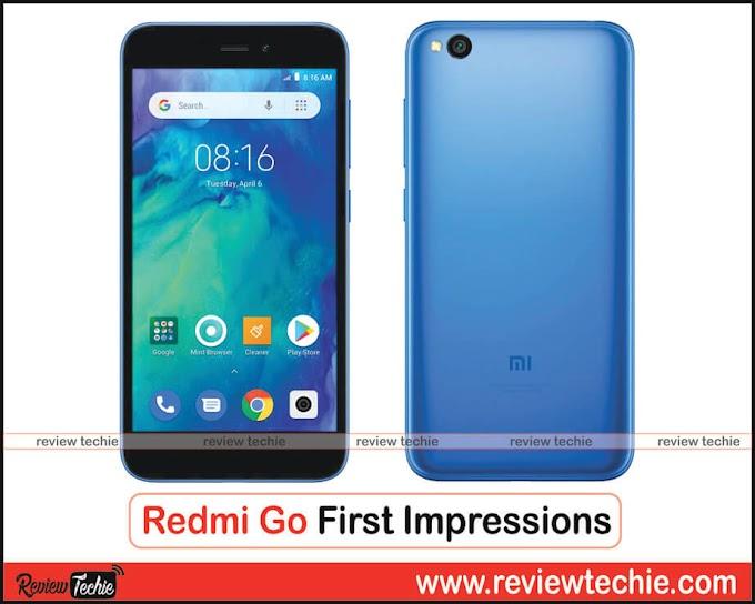 Redmi Go First Impressions