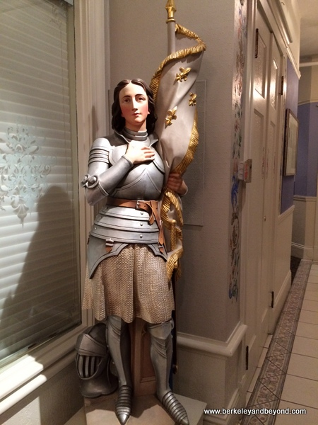 Joan of Arc statue at Restaurant Jeanne d'Arc in San Francisco