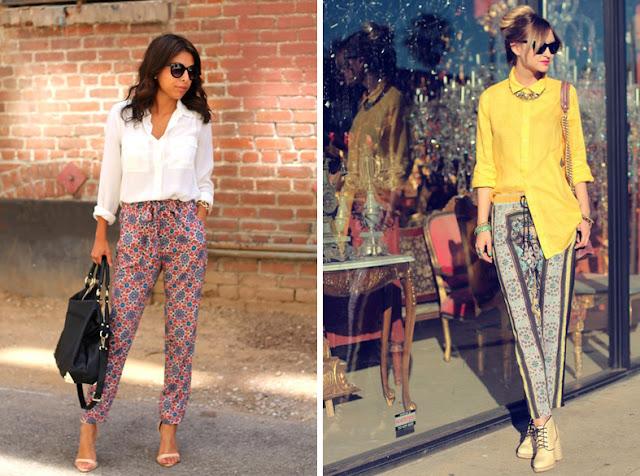 Пижамные брюки с белой и желтой рубашкой