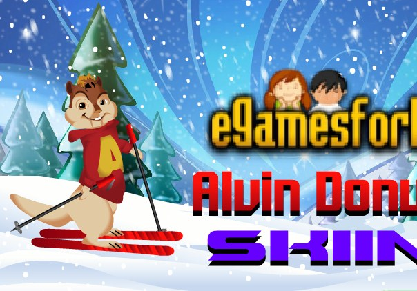 Alvin Downhill skiing - Alvin and the Chipmunks games