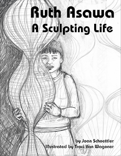 Ruth Awawa: A Sculpting Life cover sketch by Traci Van Wagoner