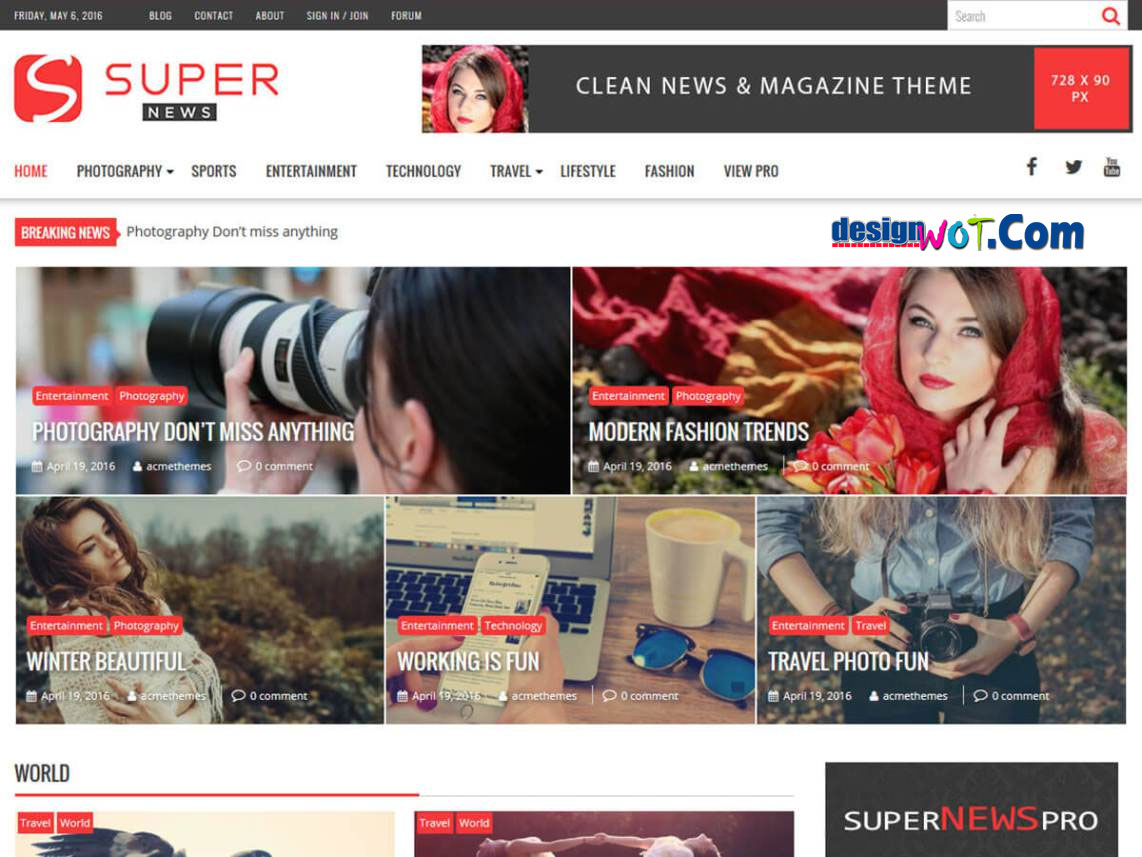 SUPERNEWS Responsive WordPress Theme