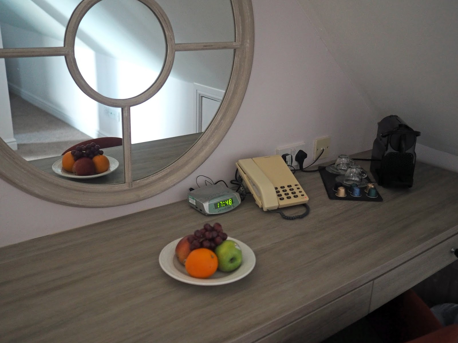 Hotel suite bedroom dressing area at Monk Bar Hotel, York