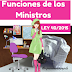 ESTUDIANDO LEYES [ LEY 40/2015 ] FUNCIONES DE LOS MINISTROS