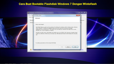Cara Buat Bootable Flashdisk Windows 7 Dengan Wintoflash