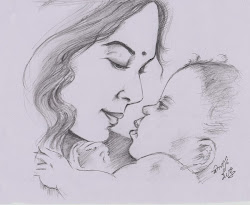 drawings sketches pencil mother sketch