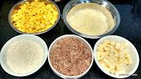 Ingredietnes do Risoto de Abóbora, Carne Seca e Queijo Coalho