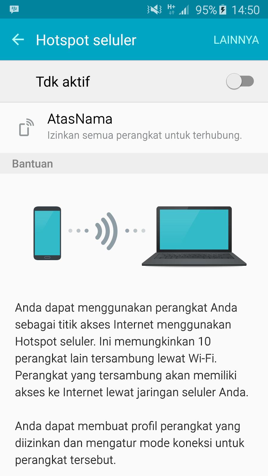 Cara Setting Hp Android Menjadi Modem