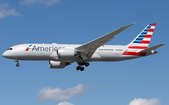 American Airlines Boeing 787-8 At Heathrow