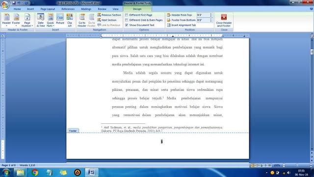 Cara menciptakan nomor halaman berbeda letak Cara Membuat Nomor Halaman Berbeda untuk Skripsi, Mudah!
